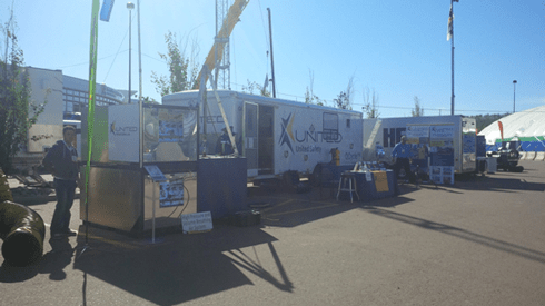 United Safety booth stands out at the Oil Sands Trade Show and Conference