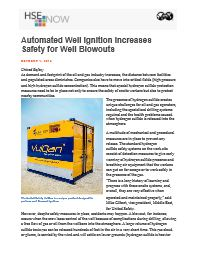 Automated Well Ignition Increases Safety for Well Blowouts_HSE Now