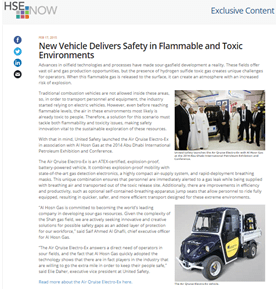 New Vehicle Delivers Safety in Flammable and Toxic Environments on HSE Now