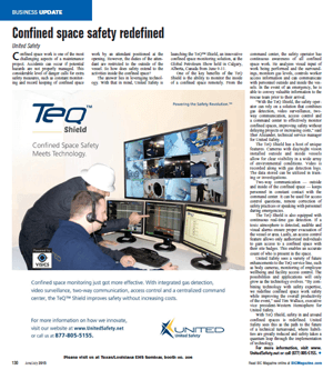 Confined space safety redefined - TeQ™ Shield featured in BIC magazine