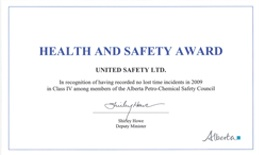 United Safety was awarded a Health and Safety