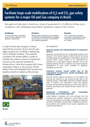 Facilitating large scale mobilization of H2S and CO2 gas safety systems
