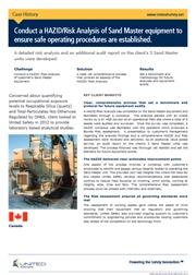 Ensuring safe operating procedures through a HAZID/Risk Analysis