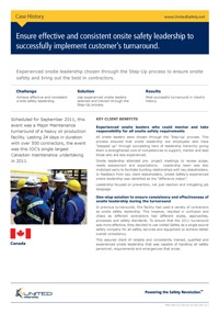 Ensuring effective and consistent onsite safety leadership