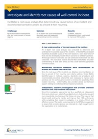 Conducting a root cause analysis of a well control incident