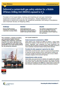 Custom-built gas safety solution for a Mobile Offshore Drilling Unit