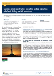 Onsite safety during relief well drilling and kill operations