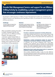 Establishing a project management system for an offshore drilling activity