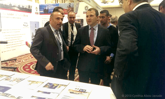 H.E. Gebran Bassil, Lebanon's Minister of Energy and Water discusses safety issues with Dr. Elie Daher, Executive Vice President for United Safety