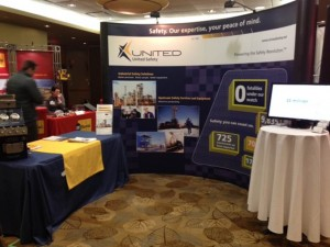 3rd annual Shutdowns Turnarounds Fort McMurray Conference United Safety Booth