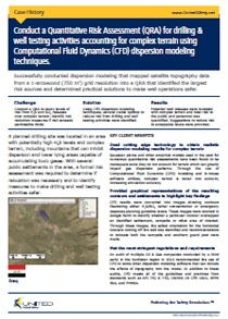 QRA for drilling and well testing activities using CFD dispersion modeling