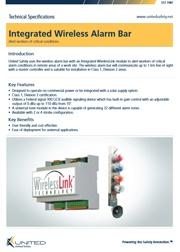 Integrated Wireless Alarm Bar