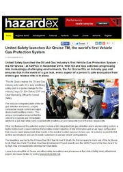 United Safety Launches the Air Qruise™ – Hazardex