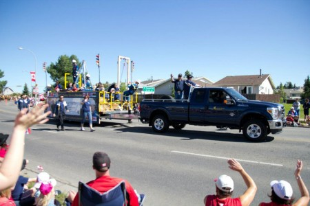 The United Safety Canada Day parade float