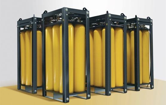 High Pressure Bottle Rack : High pressure cascade breathing air system united safety