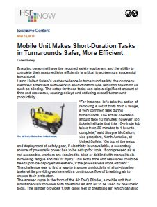 Mobile Unit Makes Short-Duration Tasks in Turnarounds Safer, More Efficient – HSE Now