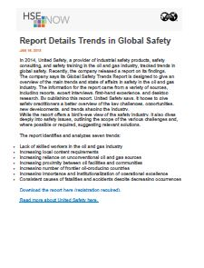 Report Details Trends in Global Safety - HSE Now