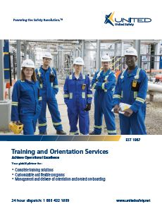 Training and Orientation Services Brochure for Canada