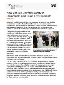 New Vehicle Delivers Safety in Flammable and Toxic Environments - HSE Now