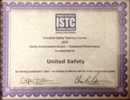 ISTC Safety Achievement Award – Sustained Performance