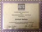 ISTC Safety Achievement Award – Years Worked