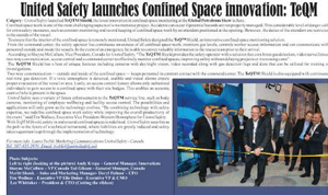 United Safety Launches Confined Space Monitoring Technology